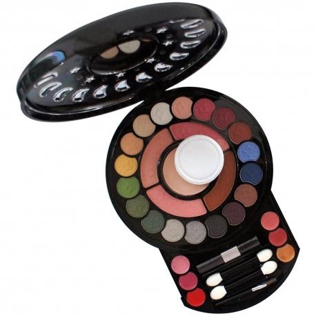 Palette de maquillage ombres à paupières noir - 34pcs
