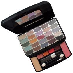 Palette de maquillage compacte noir - 34pcs