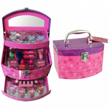 Coffret enfant mallette de maquillage rose - 29pcs