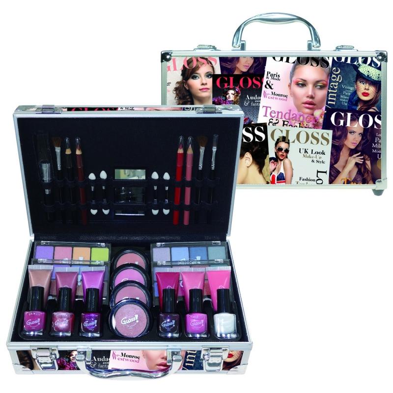 mallette de maquillage beauty tendance color gris 61pcs. Black Bedroom Furniture Sets. Home Design Ideas