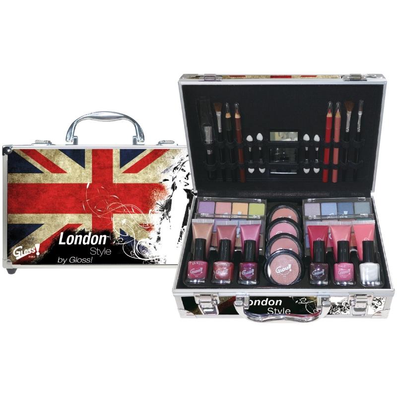 mallette de maquillage london rouge 65pcs. Black Bedroom Furniture Sets. Home Design Ideas