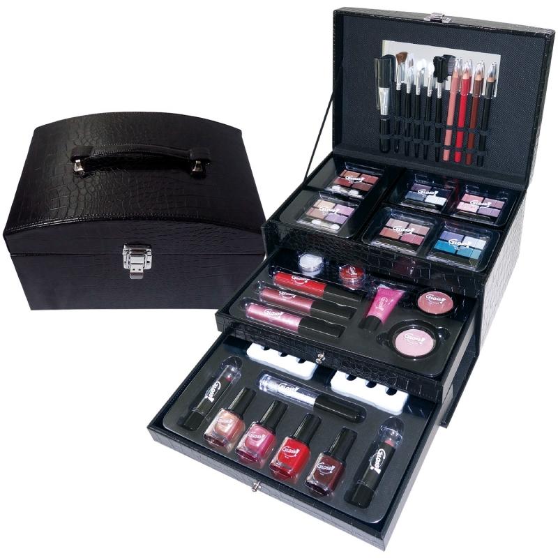 mallette de maquillage premium essentials noir 57pcs. Black Bedroom Furniture Sets. Home Design Ideas