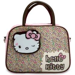Hello Kitty Trousse de toilette ou de maquillage rose à motifs