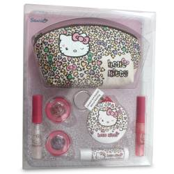 Set de Maquillage Pink Cheetah - Hello Kitty - 10 Pcs
