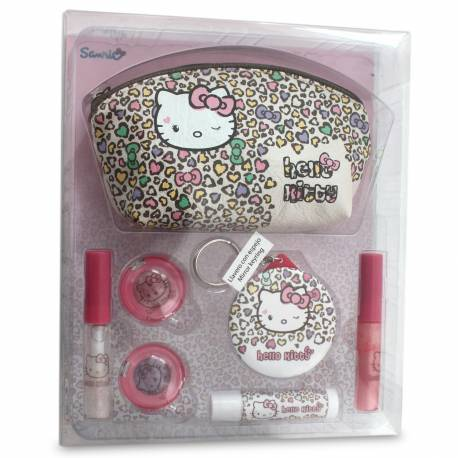 Set de Maquillage Pink Cheetah - Hello Kitty - 10 Pcs