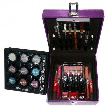 Mallette de maquillage City violet - 34pcs
