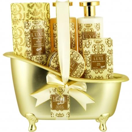 Coffret de bain au parfum de musc et fleurs blanches - 5pcs