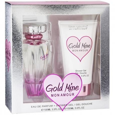 Coffret parfum Femme - Eau de Parfum 100ml et Déodorant Gold Mine Mon Amour - Linn Young
