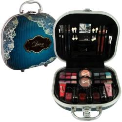 Mallette de maquillage Diva Style bleu - 48pcs