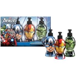 Coffret Cadeau Bain - Gel Douche Shampoing et Savon Pour les Mains - Avengers - Marvel