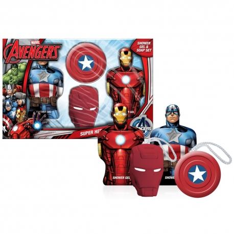 Avengers Coffret enfant avec gels douche et savons - 4pcs