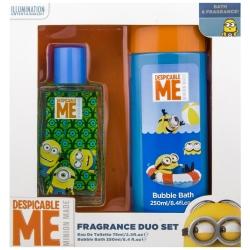 Coffret Cadeau Duo - Eau de Toilette 75ml et Bain Moussant 250ml - Minions