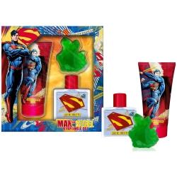 Coffret Cadeau - Eau de Toilette 50ml - Gel Douche 150ml et Savon - Superman