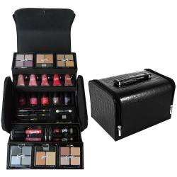Mallette de maquillage Fashion noir - 44pcs