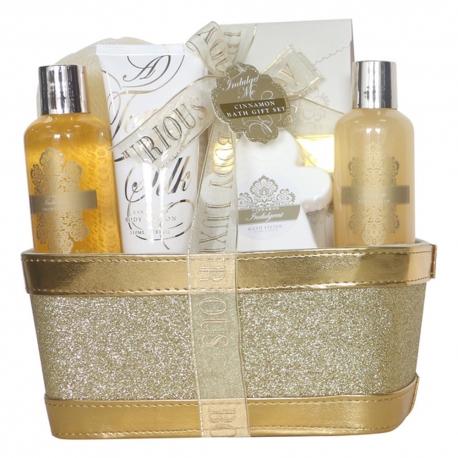 Coffret de bain au parfum doux de vanille et tilleul - 6pcs