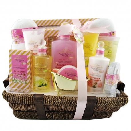 Coffret de bain premium au parfum de cinq fleurs - 14pcs