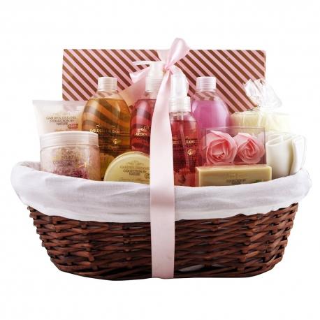 Coffret de bain premium au doux parfum fleuri - 17pcs