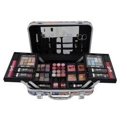 Mallette de maquillage USA Diamond bleu - 48pcs