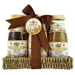 Coffret de bain au doux et délicat parfum miel - 3pcs