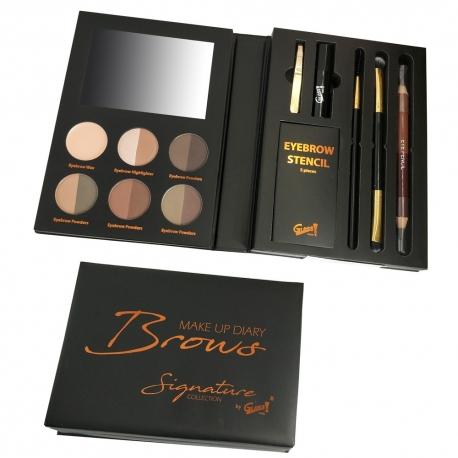 Kit complet entretien et maquillage sourcils - 16pcs