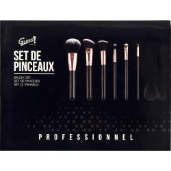 Gloss! Kit de Pinceaux Maquillage Professional - 8pcs