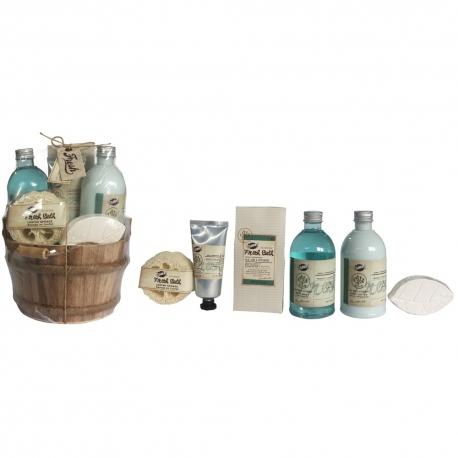 Coffret de bain au parfum aloe vera et menthe poivrée - 6pcs