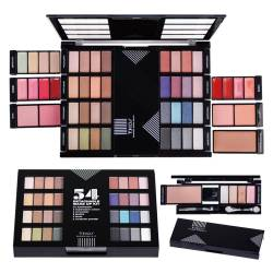 Palette de maquillage détachable customisable noir - 54pcs
