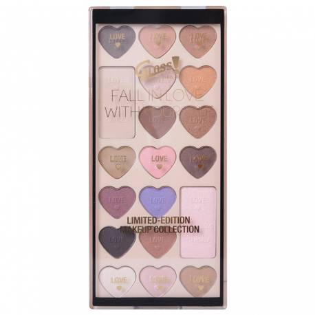 Palette de maquillage Fall in Love rose - 19pcs