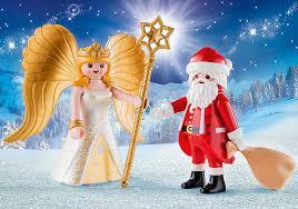 père noël et anges